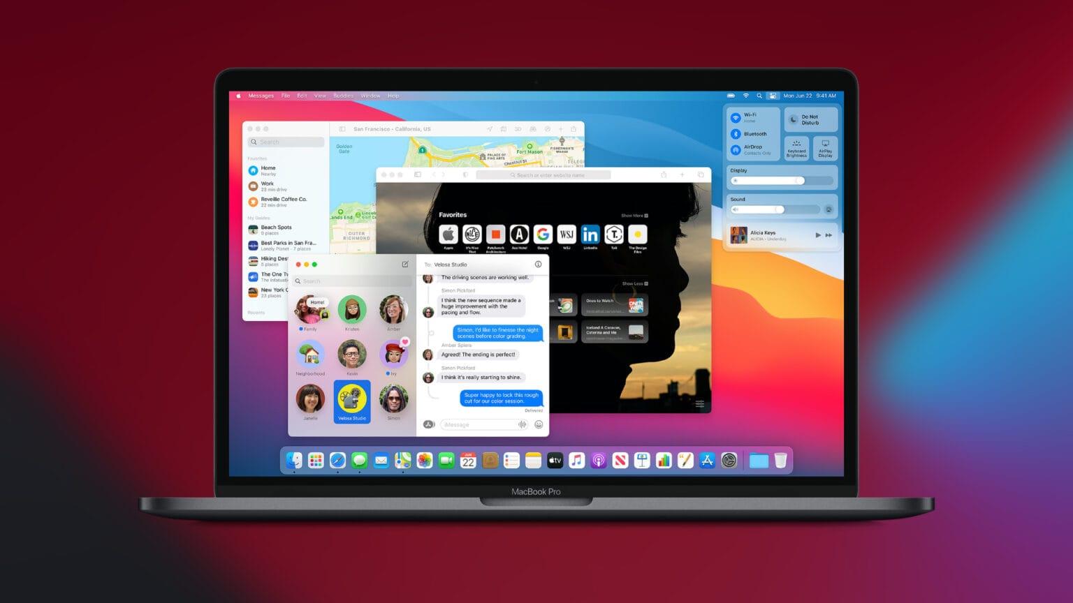 macOS Big Sur en una MacBook Pro