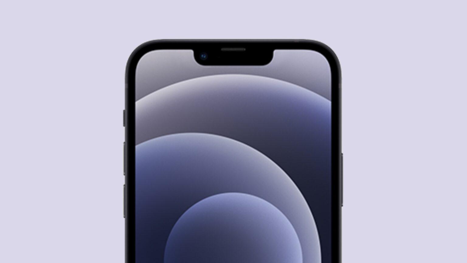 Esta imagen conceptual muestra cómo la muesca del iPhone 13 podría encogerse.