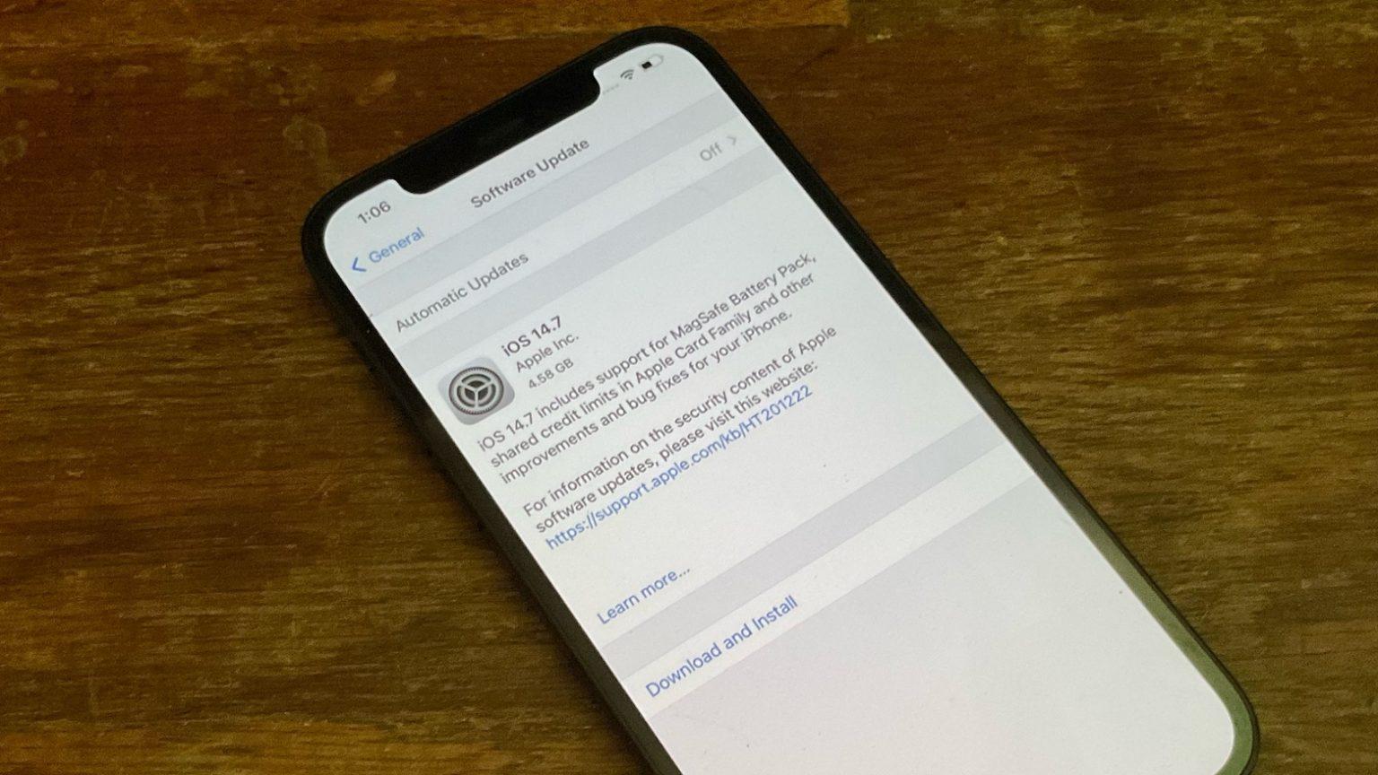 iOS 14.7 traerá cambios a la tarjeta Apple, soporte de batería de Apple