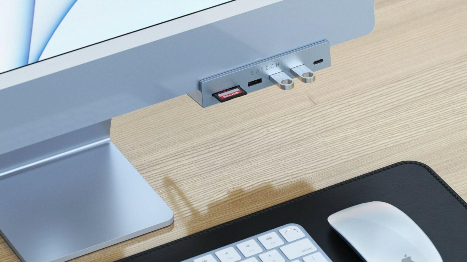 Abrazadera de cubo Satechi para M1 iMac