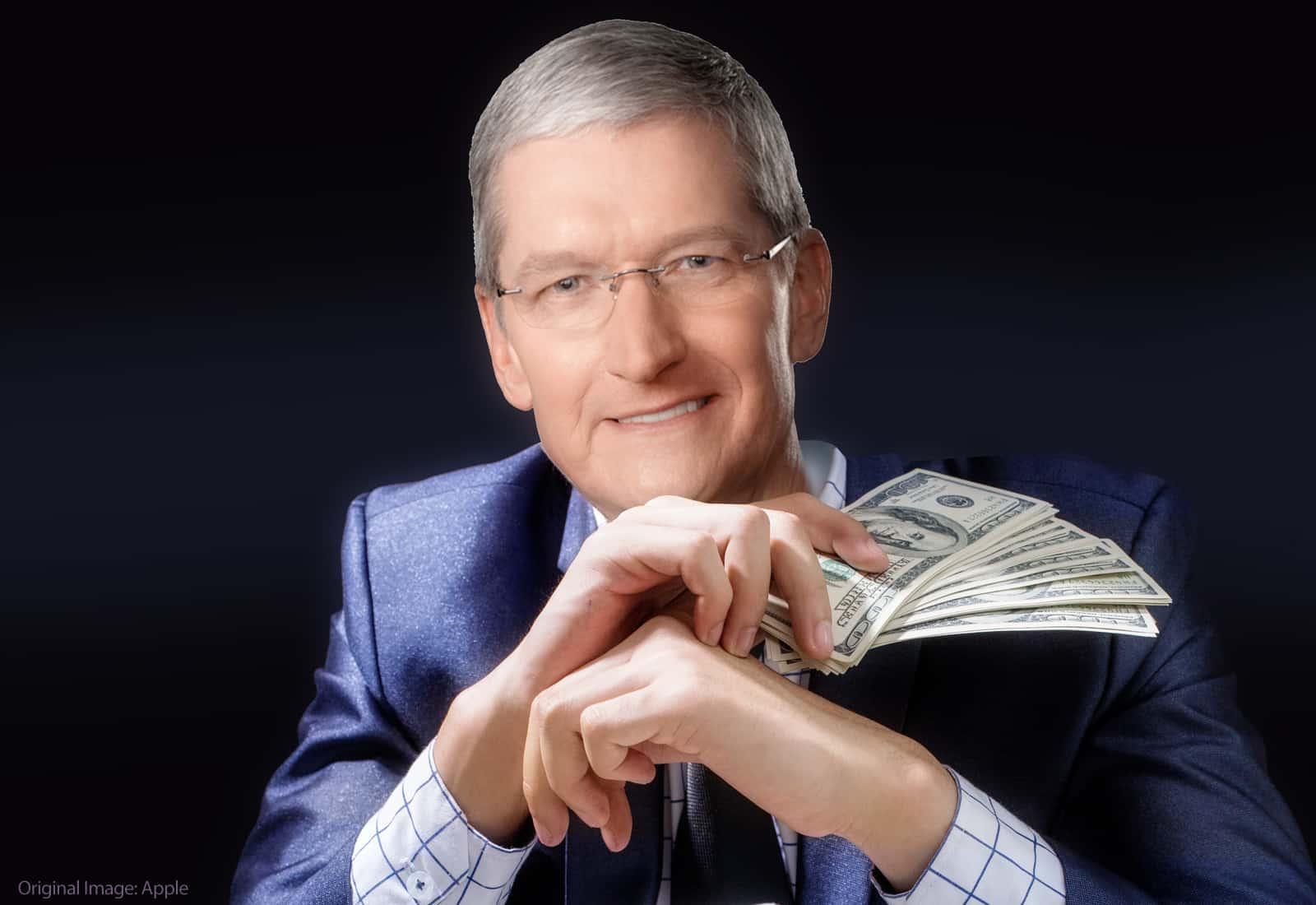 Las ganancias de Tim Cook Apple